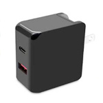TC169-Type C+USB Ports Foldable Wall Charger