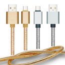 Whole Metal Spring USB Cable-I6G202