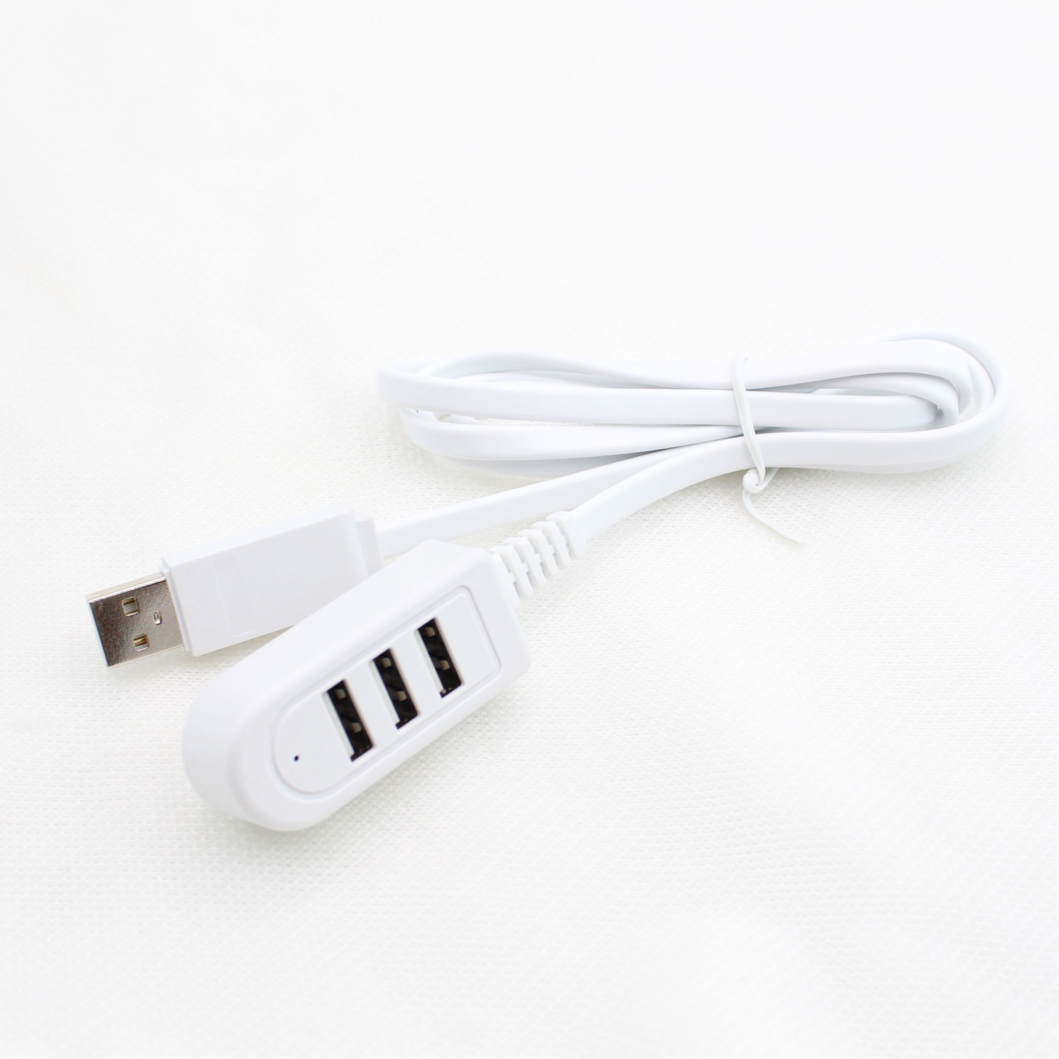 Three USB ports charging cable