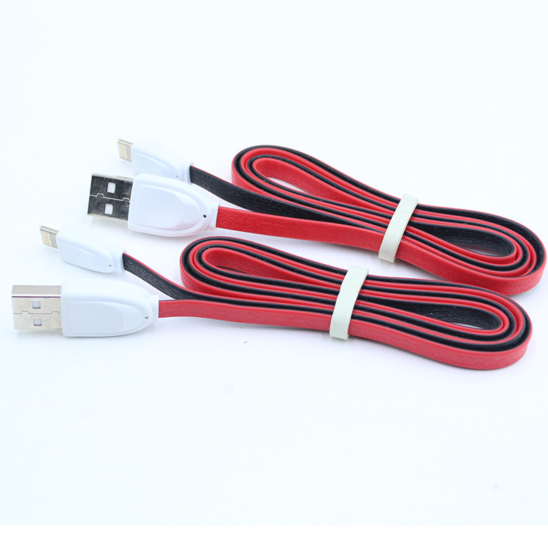 Flat twins color USB cable